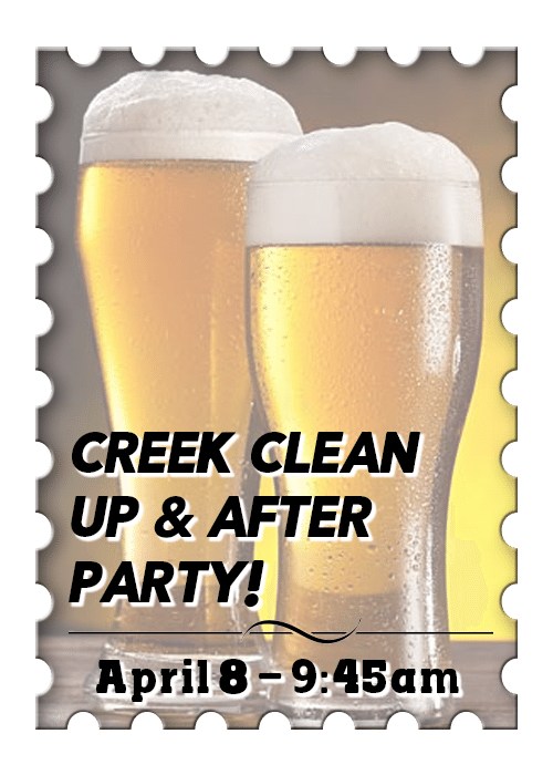 Birdsong Semi-Annual Creek Clean Up & After Party!