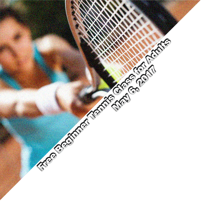 Free Beginner Tennis Class for Adults